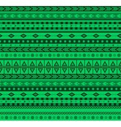 Green aztec pattern vector