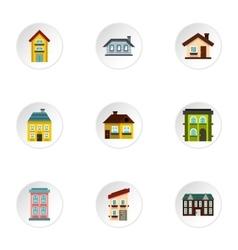 Habitation icons set flat style vector