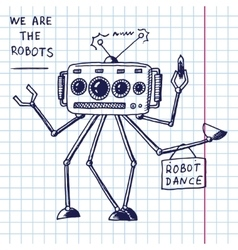 hand draw robot vector image vector image