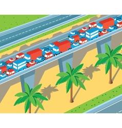 Isometric highway vector