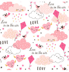 Love is in the air pattern vector