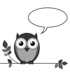 Owl talk vector