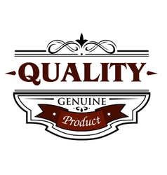 Quality genuine product banner vector image vector image