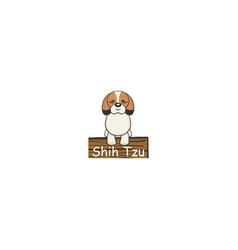Shih tzu cartoon dog icon vector