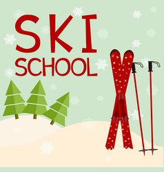 ski school education training mentoring logo vector image vector image