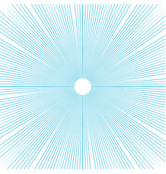 sunburst background thin blue radial lines vector image vector image