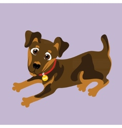 Yagdterer of a character dog vector