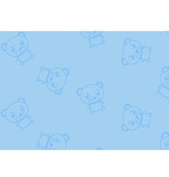 Seamless ornament with bears vector