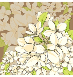 Apple tree floral card vector image