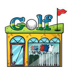 Golf accessories store vector