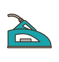 Green steam iron household vector