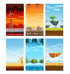 Computer games colorful elements cartoon set vector
