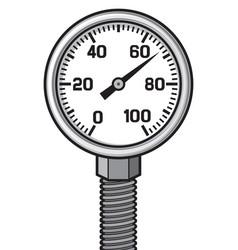 Pressure gauge meter vector