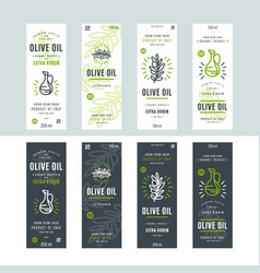 Set of templates label for olive oil vector