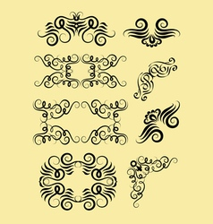 Corner decorations vector