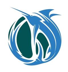 Marlin fishing icon vector image