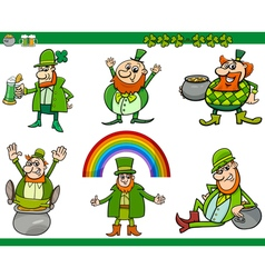 Saint patrick day cartoon set vector