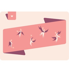 Human winged figures in pink vector