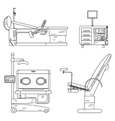 Medical equipment set obstetrics and gynecology vector