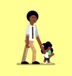 afro american girl vector image