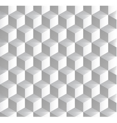 background with isometric cubes patterns vector image