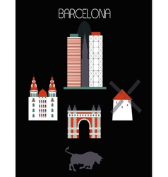 Barcelona city vector