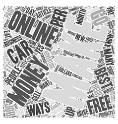 Best Ways To Make Money Online Word Cloud Concept vector image
