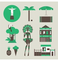 Brazillian icons vector