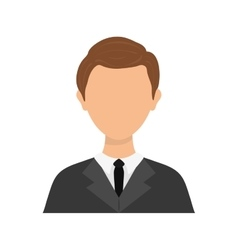 Businessman executive Profile vector image vector image