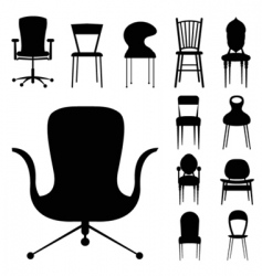 chair design vector image vector image