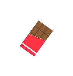 chocolate bar flat icon food drink elements vector image