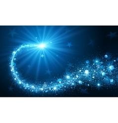 Christmas Star blue v kr vector image