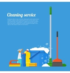 Cleaning service company concept vector