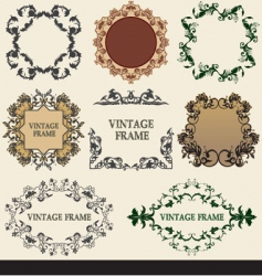 collection vintage frames vector image vector image