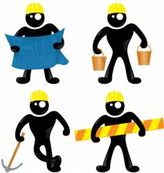 construction man vector image