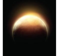 Cosmo moon vector image vector image