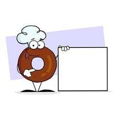 Donut cartoon vector image vector image