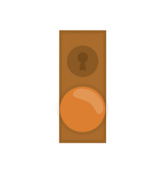 Door lock icon vector