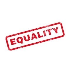 Equality text rubber stamp vector