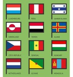 Flags flat set-04 vector