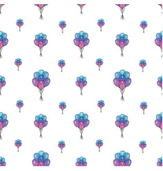 holiday seamless pattern with multicolor air vector image vector image