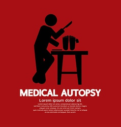 Medical autopsy graphic vector