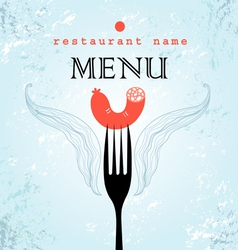 Restaurant menu card design vector