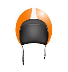 retro motorcycle helmet vector image