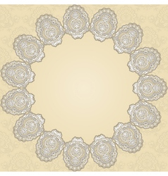 round doily2 vector image vector image