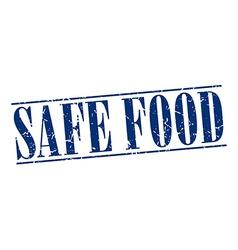 Safe food blue grunge vintage stamp isolated on vector
