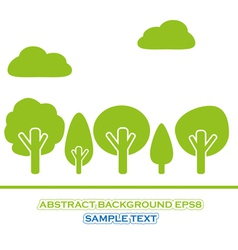 set of green tree vector image vector image