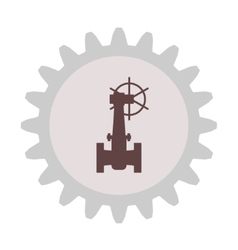 Silhouette of the valve gear vector image vector image