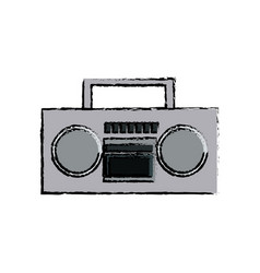 stereo radio sound music device retro vector image