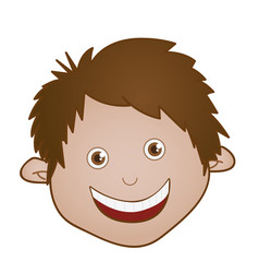 sticker face boy icon vector image vector image